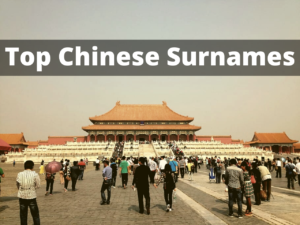 Top Chinese Surnames